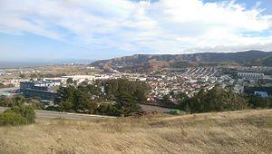 Visitacion Valley, San Francisco - Visitacion Valley viewed from the Philosopher's Way at John McLaren Park.