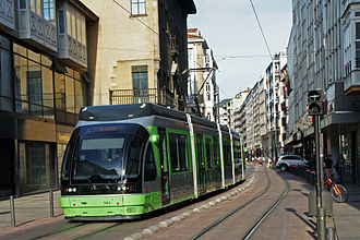 Euskotren Tranbia - Tram unit in Vitoria-Gasteiz.