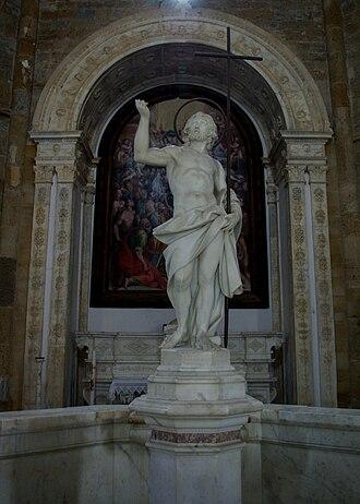 Andrea Sansovino -  Christ, Baptistery of San Giovanni in Volterra