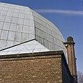 Voorwaarts uitspringend bouwdeel van de synagoge te Enschede tijdens de restauratie - Enschede - 20338428 - RCE.jpg