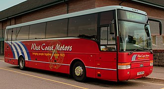 West Coast Motors - Van Hool bodied DAF SB4000 in Oban in September 2013