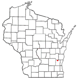 Location of Kewaskum, Wisconsin