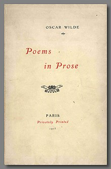 Poems In Prose Wilde Collection Wikipedia