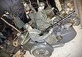 WW2 IN NORWAY Occupying German Army Wehrmacht Uniforms Helmets Raincoats BMW R75 Military motorcycle Sidecar Beiwagen MG 34 machine gun Feldgendarmerie Equipment Weapons Forest scene Mannequins ARQUEBUS Krigshistoriske Museum Tysvær E.jpg