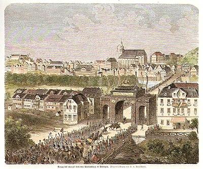 W v Breitschwert - Einzug des Königs Karl in Tübingen, kol Holzschnitt 1865 Inv.4133 (SW029).jpg