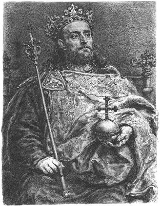 Přemyslid dynasty - Member of the Přemyslid dynasty: King Wenceslaus II, drawing by Jan Matejko