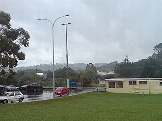 Waitakere railway station - The station and shelter