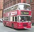 Warrington Borough Transport bus 160 (H146 PVW) ex-Dublin Bus RH76 (91 D 1076) 1991 Leyland Olympian Alexander (Belfast), Manchester, 23 August 2008.jpg