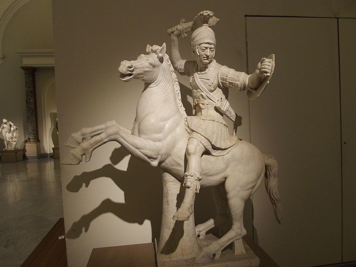 Warrior on horseback