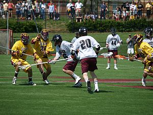 Washington College - The annual lacrosse rivalry between Washington College and Salisbury University is known as The War on the Shore.