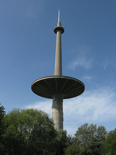 Mechelen-Zuid water tower, one of the tallest in the world[30]