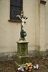 Wayside cross near Church of Saint Mary in Krasonice, Jihlava District.jpg