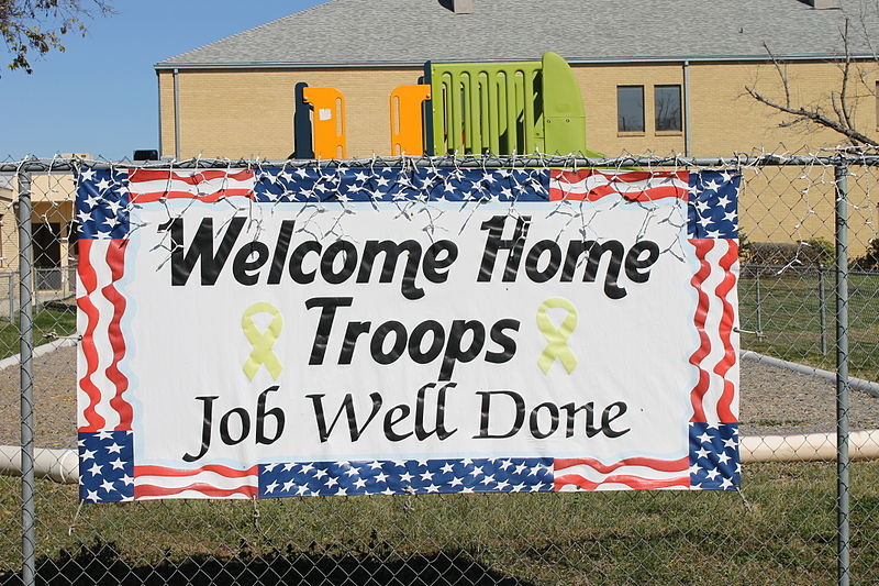 Welcome Home Troops sign, Devine, TX IMG 4928.JPG