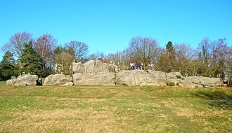Royal Tunbridge Wells - The sandstone Wellington Rocks on Tunbridge Wells common