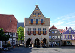 Town hall and market place of Werne