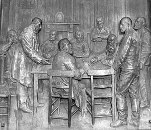 First Boer War - Peace talks between Paul Kruger and Sir Evelyn Wood in O'Neill's cottage near Amajuba Hill