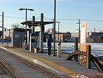 West at South Salt Lake City station passenger platform, Jan 16.jpg