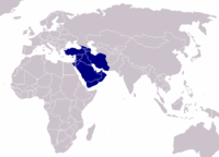 Location of Western Asia on Earth