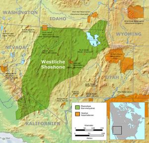 Western Shoshone - Western Shoshone traditional territories
