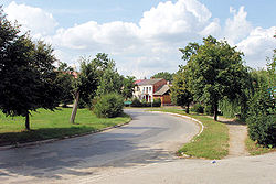 Street near the centre of Gniewoszów