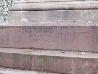 Wiesbaden - Memorial for Nassauers fallen at the Battle of Waterloo