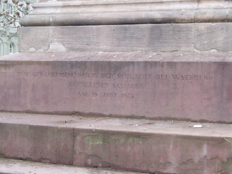 Wiesbaden Waterloo Memorian