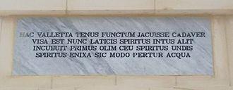 Wignacourt Arch - Image: Wignacourt Arch plaque 2016 03 26