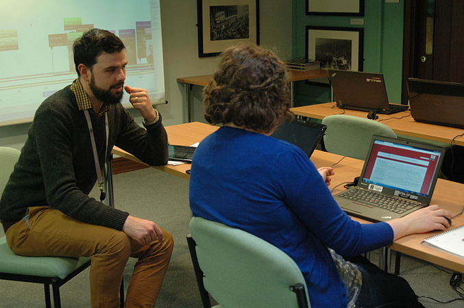 Wikidata Edit-a-thon at National Library of Wales 08.jpg