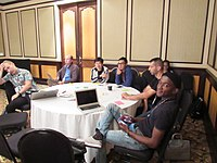 Wikipedians at Wikimania 2018 learning days 04.jpg