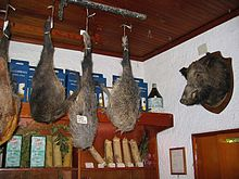 wild boar haunches and trophy umbria italy