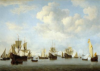 1664 in art - van de Velde – The Dutch Fleet in the Goeree Straits (Guinea), Thyssen-Bornemisza Museum