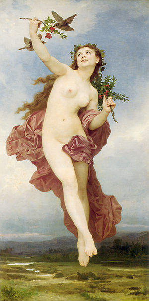 Hemera - Hemera (1881) by William-Adolphe Bouguereau