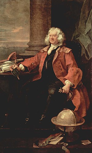 1740 in Great Britain - Thomas Coram, painted by William Hogarth, 1740