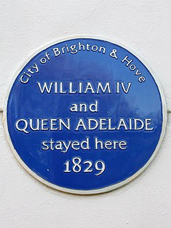 Photo of William IV and Adelaide of Saxe-Meiningen blue plaque