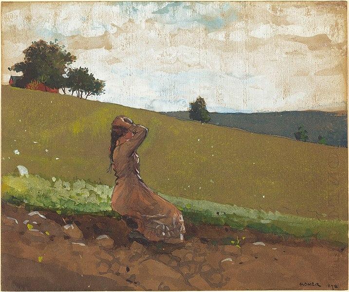 Nudist Camp  Original Watercolor Painting