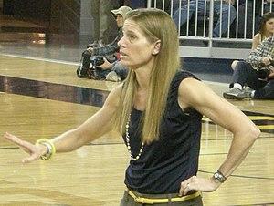 Michigan Wolverines women's basketball - Kim Barnes Arico, the current head coach of the Michigan Wolverines women's basketball team.