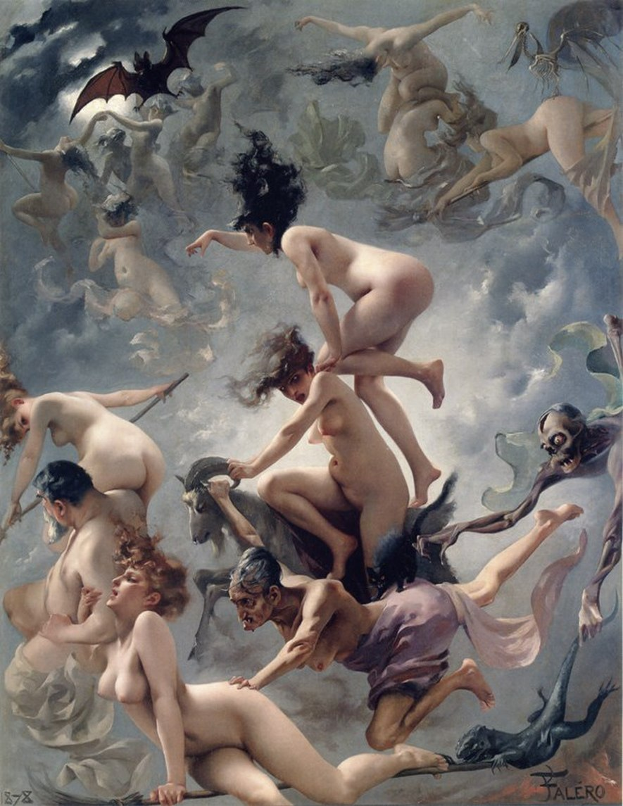 Witches going to their Sabbath (1878), by Luis Ricardo Falero.jpg