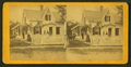 Women and children shown on porches. (A boy holds a horse), from Robert N. Dennis collection of stereoscopic views.png