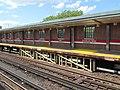 Wooden platform supports at Charles MGH station, July 2016.JPG