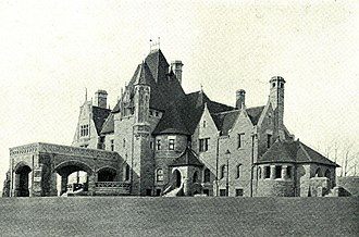 "Will Price - ""Woodmont,"" Alan Wood, Jr. mansion, Gladwyne, Pennsylvania (1892-94)."
