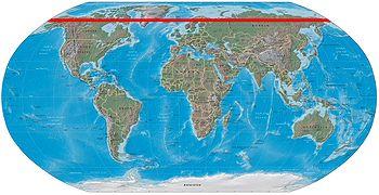 circulo polar artico no mapa mundo