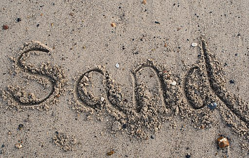 Writing in sand, by Mrs Logic