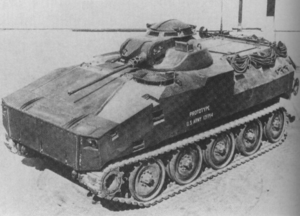 MICV-65 - The XM-701's sloped rear deck contained firing ports for the infantry.