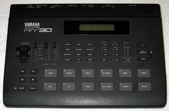 Drum machine - A Yamaha RY30 drum machine