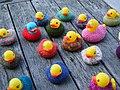 Yarn Bomb - ducks in the river (5519775806).jpg