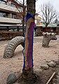 Yarn bombing on a tree in Munkedal 2.jpg