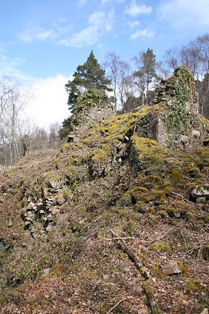 Yarner Wood & Trendlebere Down - Remains of the copper mine engine house in Yarner Wood