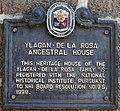 Ylagan-de la Rosa Ancestral House historical marker.jpg