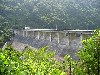 Yokokawa Dam Dam in Nagano Prefecture, Japan