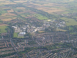 University of York - The campus from the air looking south
